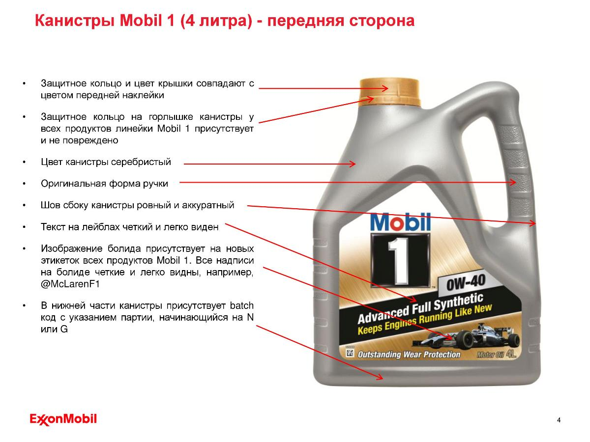 page4 - Отличительные особенности оригинальной упаковки продуктов Mobil