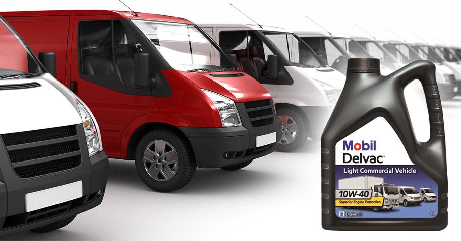 red white vans - Новый продукт Mobil Delvac для легкого коммерческого транспорта